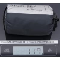 Vorschau: Rab Silk Ascent Sleeping Bag Liner - Innenschlafsack slate - Bild 3