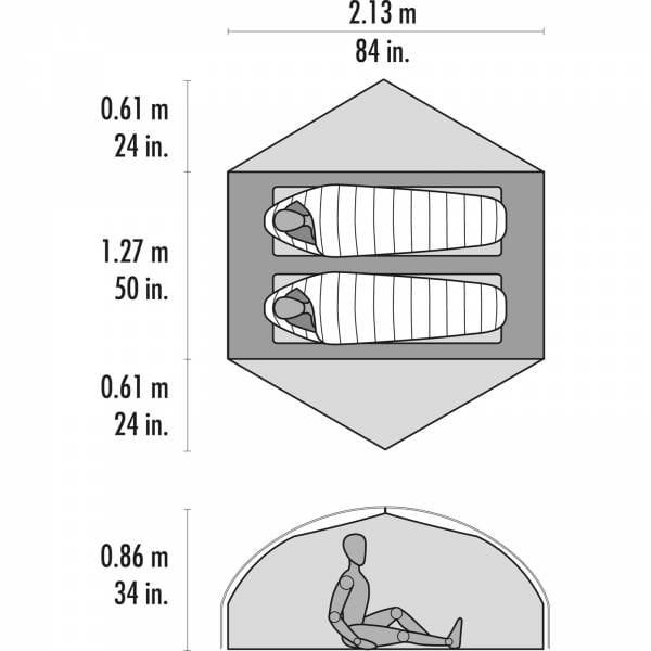 MSR Carbon Reflex 2 - 2 Personen Zelt - Bild 4