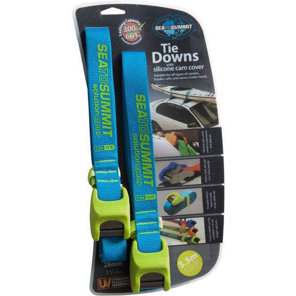 Sea to Summit Tiedown Strap Silicon Cover - 2 x 3,5 m blau-grün - Bild 1