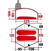 Vorschau: Wechsel Exogen 2 Zero-G - 2-Personen-Zelt green - Bild 3