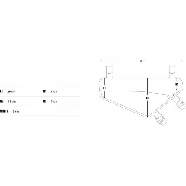 Apidura Racing Frame Pack 2,4 L - Rahmentasche - Bild 3