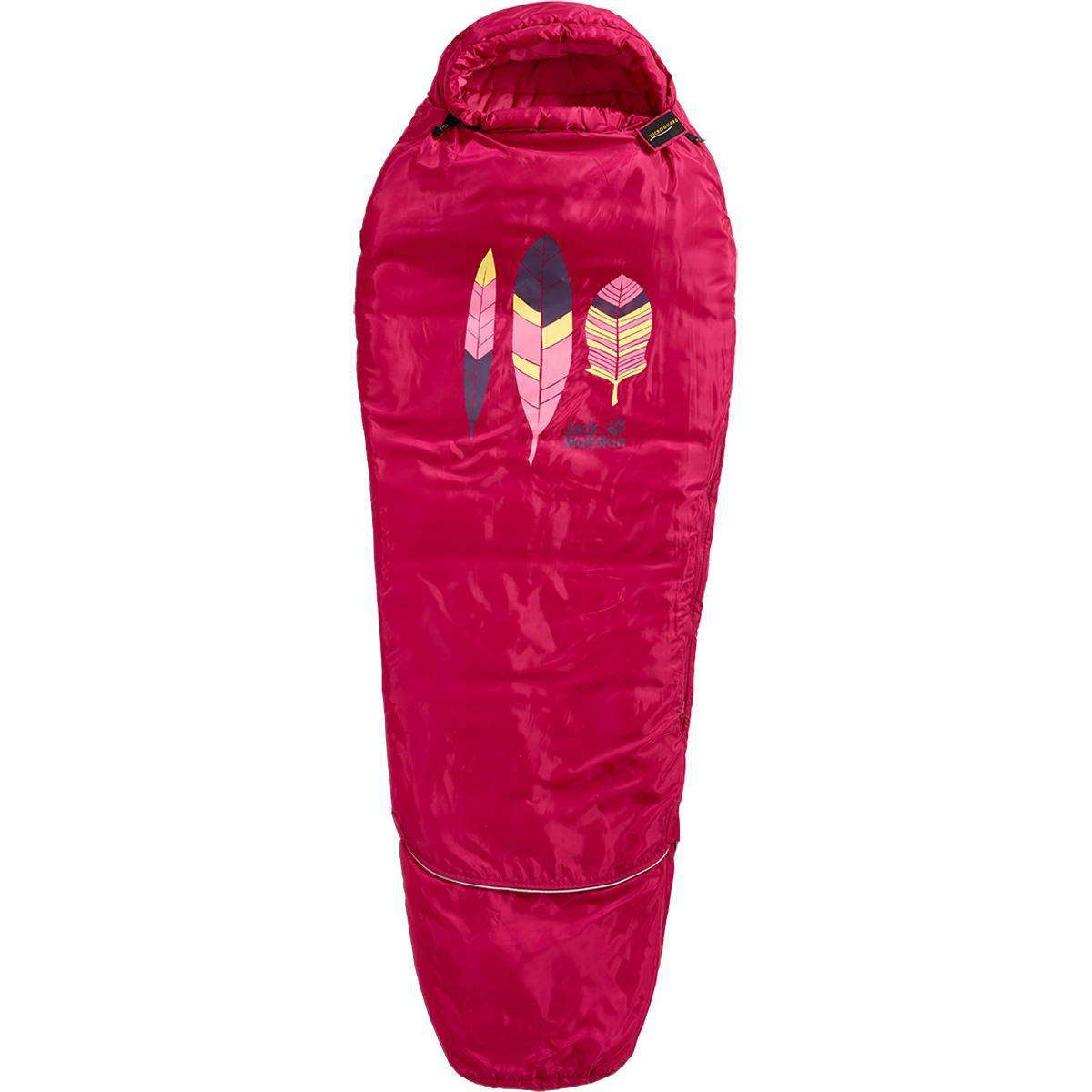 Jack Wolfskin Grow Up Kids - Kinderschlafsack azalea red links