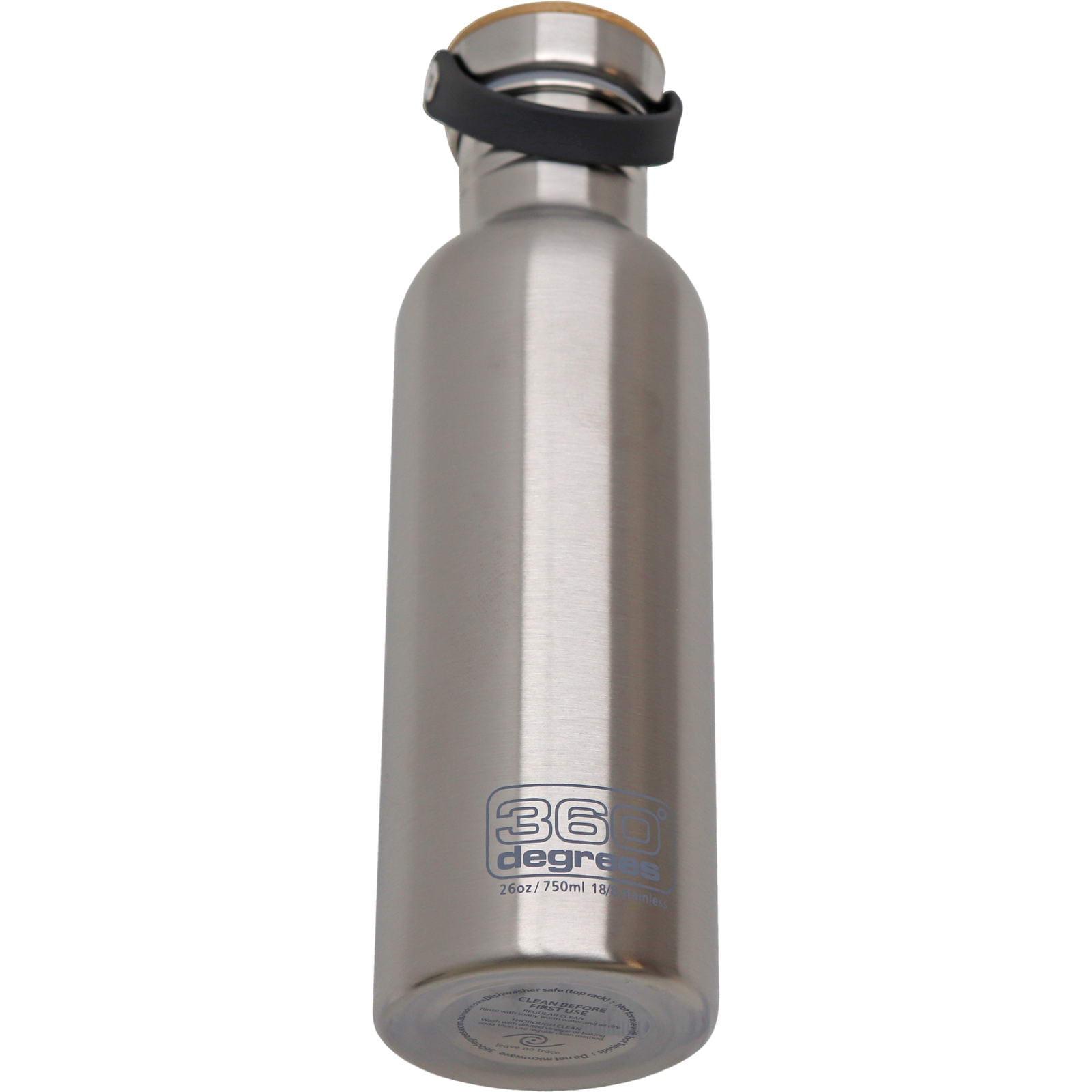 360° degrees Stainless Drink Bottle mit Bamboo Cap - 750 ml silver - Bild 2