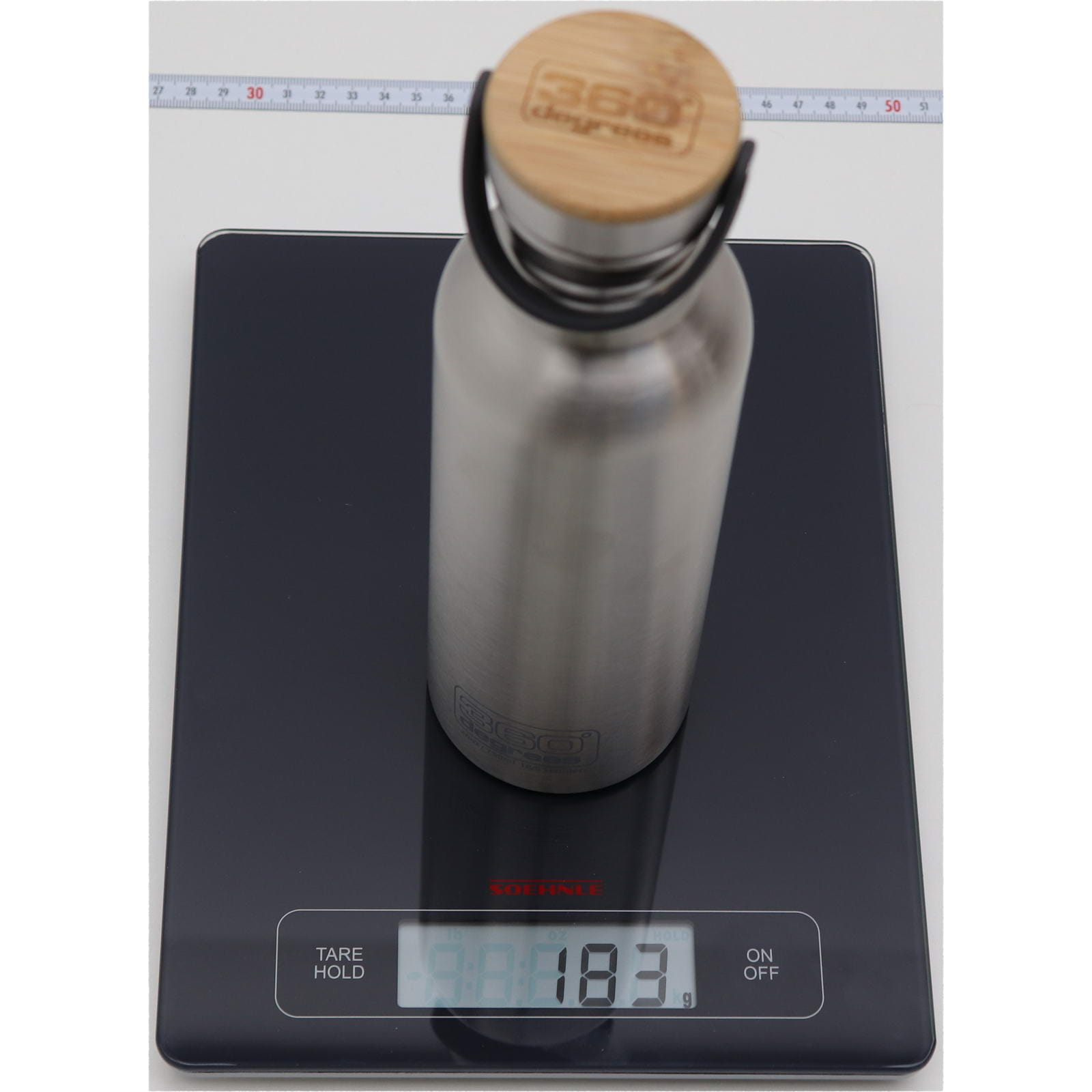 360° degrees Stainless Drink Bottle mit Bamboo Cap - 750 ml - Bild 3