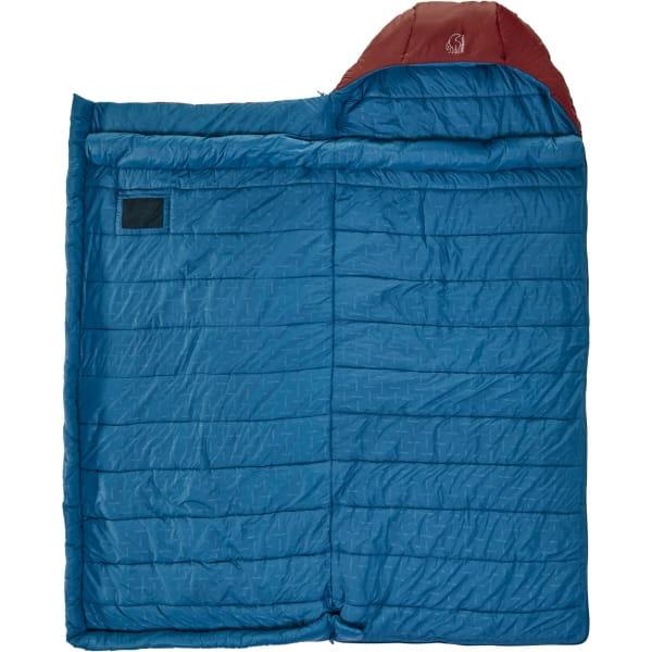 Nordisk Puk -2° Blanket - Decken-Schlafsack sun dried tomato-majolica blue-syrah - Bild 4