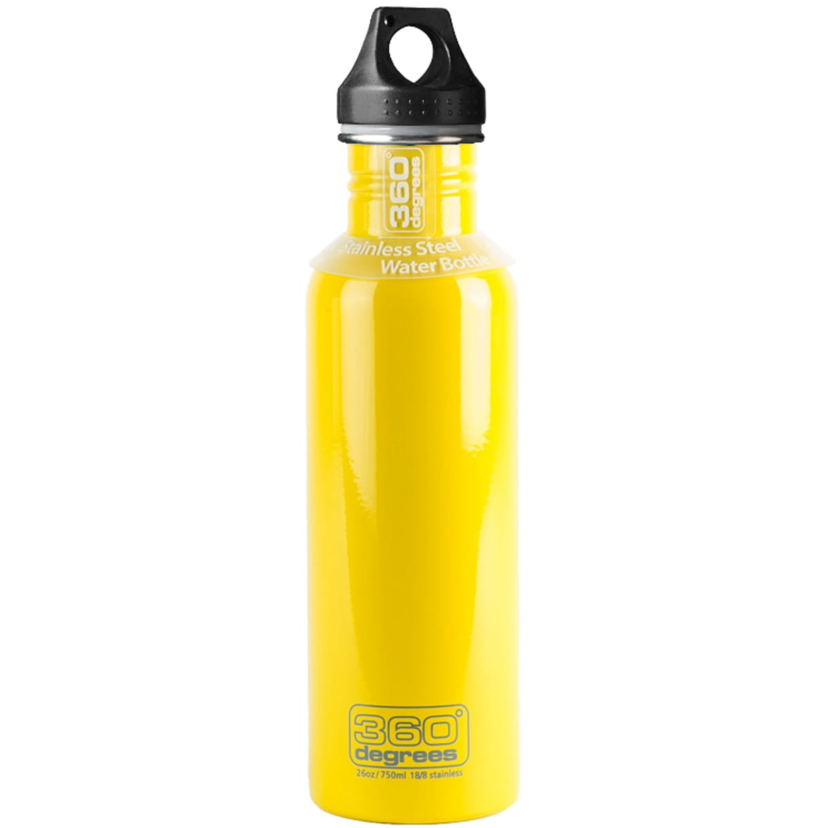 360° degrees Stainless Drink Bottle - 750 ml - Trinkflasche yellow