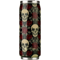 Vorschau: Les Artistes Pull Can It 500 ml - Thermo-Trinkdose rose skull - Bild 1