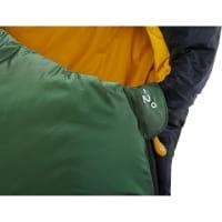 Vorschau: Nordisk Gormsson -2° Curve - 3-Jahreszeiten-Schlafsack artichoke green-mustard yellow-black - Bild 8