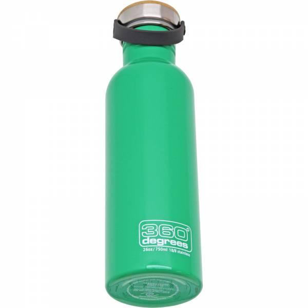 360° degrees Stainless Drink Bottle mit Bamboo Cap - 750 ml spring green - Bild 3