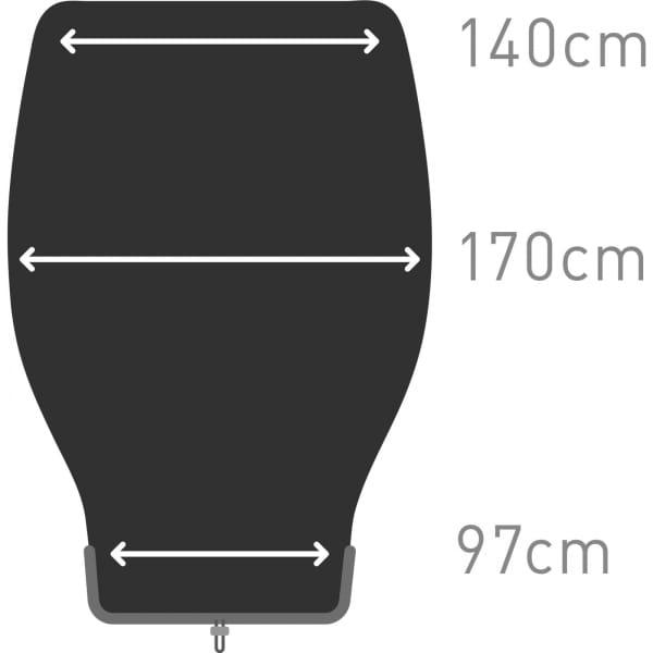 Sea to Summit Glow GwI Large - Kunstfaser-Decke dark sapphire-grey - Bild 11