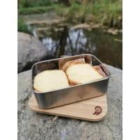 Vorschau: Basic Nature Bamboo Lunchbox 1,2 L - Edelstahl-Proviantdose stainless - Bild 4