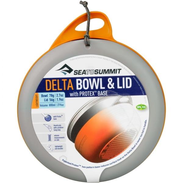 Sea to Summit Delta Bowl & Lid - Schüssel mit Deckel orange - Bild 5