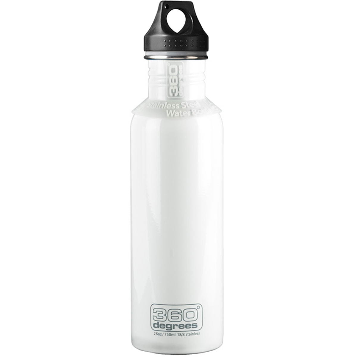360° degrees Stainless Drink Bottle - 750 ml - Trinkflasche white