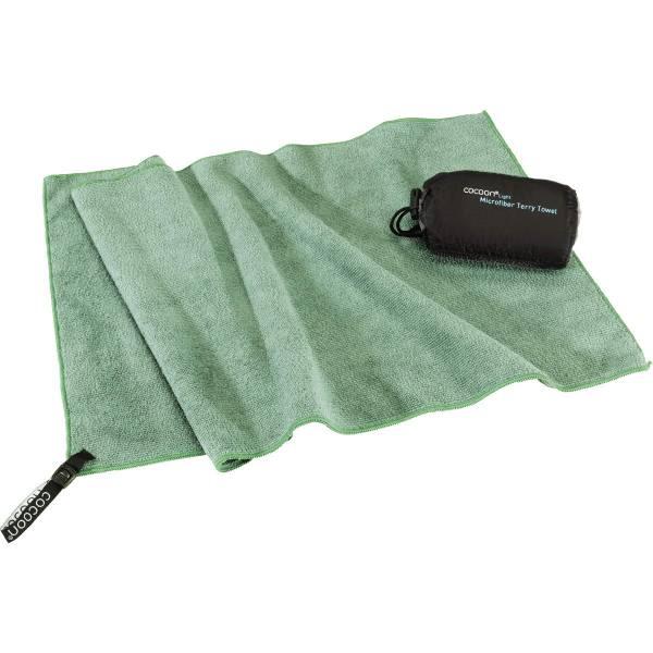 COCOON Terry Towel Light Gr. M - Trekking-Handtuch bamboo green - Bild 3