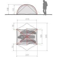 Vorschau: VAUDE Space Seamless 2-3P - Zelt cress green - Bild 4