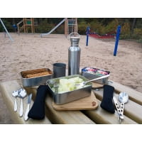 Vorschau: Basic Nature Bamboo Lunchbox 1,2 L - Edelstahl-Proviantdose stainless - Bild 5