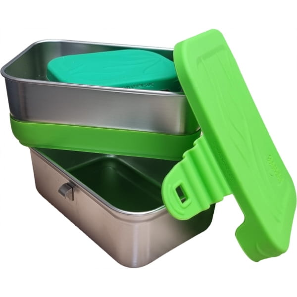 ECOlunchbox 3-in-1 Splash Box - Proviantdose green - Bild 2