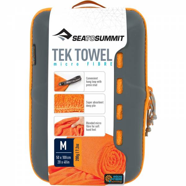 Sea to Summit Tek Towel M - Funktionshandtuch orange - Bild 7