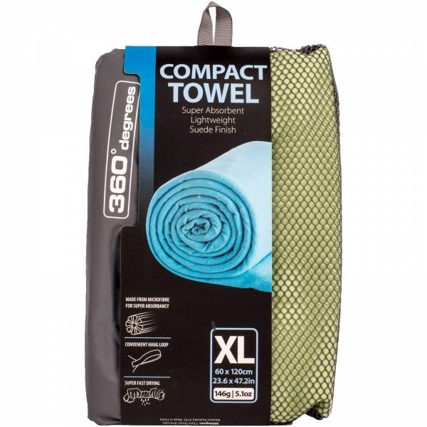 360° degrees Compact Microfibre Towel XL - Handtuch lightgreen - Bild 1