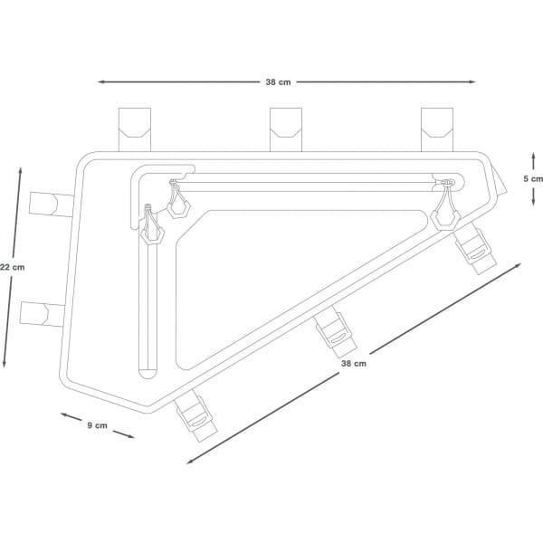 Apidura Backcountry Full Frame Pack 4 L - Rahmentasche - Bild 3