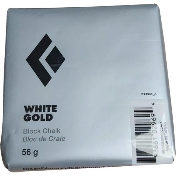 Black Diamond Solid White Gold Chalk - 56 g Block - Bild 1