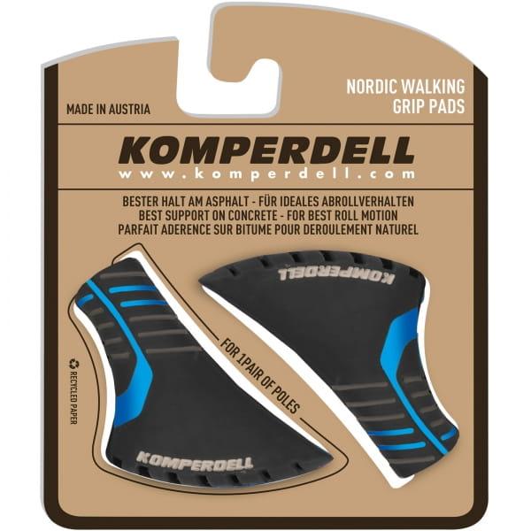 Komperdell Nordic Walking Grip Pads - Gummipuffer schwarz-blau - Bild 1