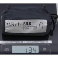 Vorschau: Rab Silk Ascent Hooded Sleeping Bag Liner - Innenschlafsack slate - Bild 2