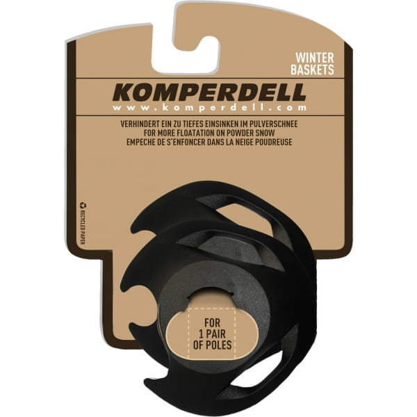 Komperdell Eisflanken Regular UL FXP Winterteller - Stockteller schwarz - Bild 1