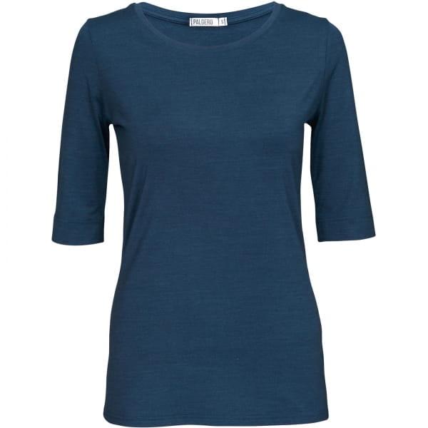 PALGERO Damen SeaCell-Merino Liv 3/4-Arm-Shirt blau meliert - Bild 3