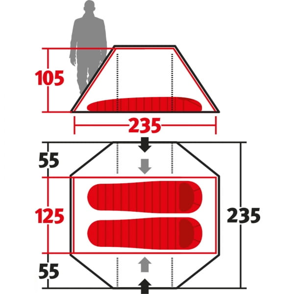 Wechsel Pioneer Zero-G - 2-Personen-Zelt green - Bild 3