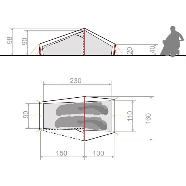 VAUDE Lizard Seamless 1-2P - Zelt cress green - Bild 4