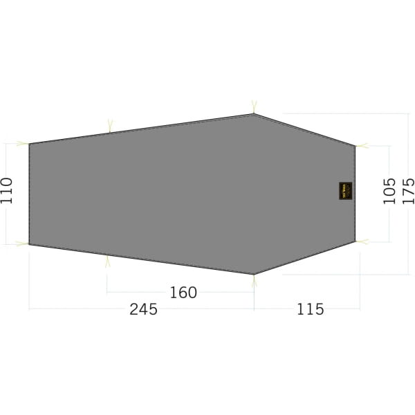 Tatonka Floor Sheet LT Gargia 3 - Zeltunterlage - Bild 1
