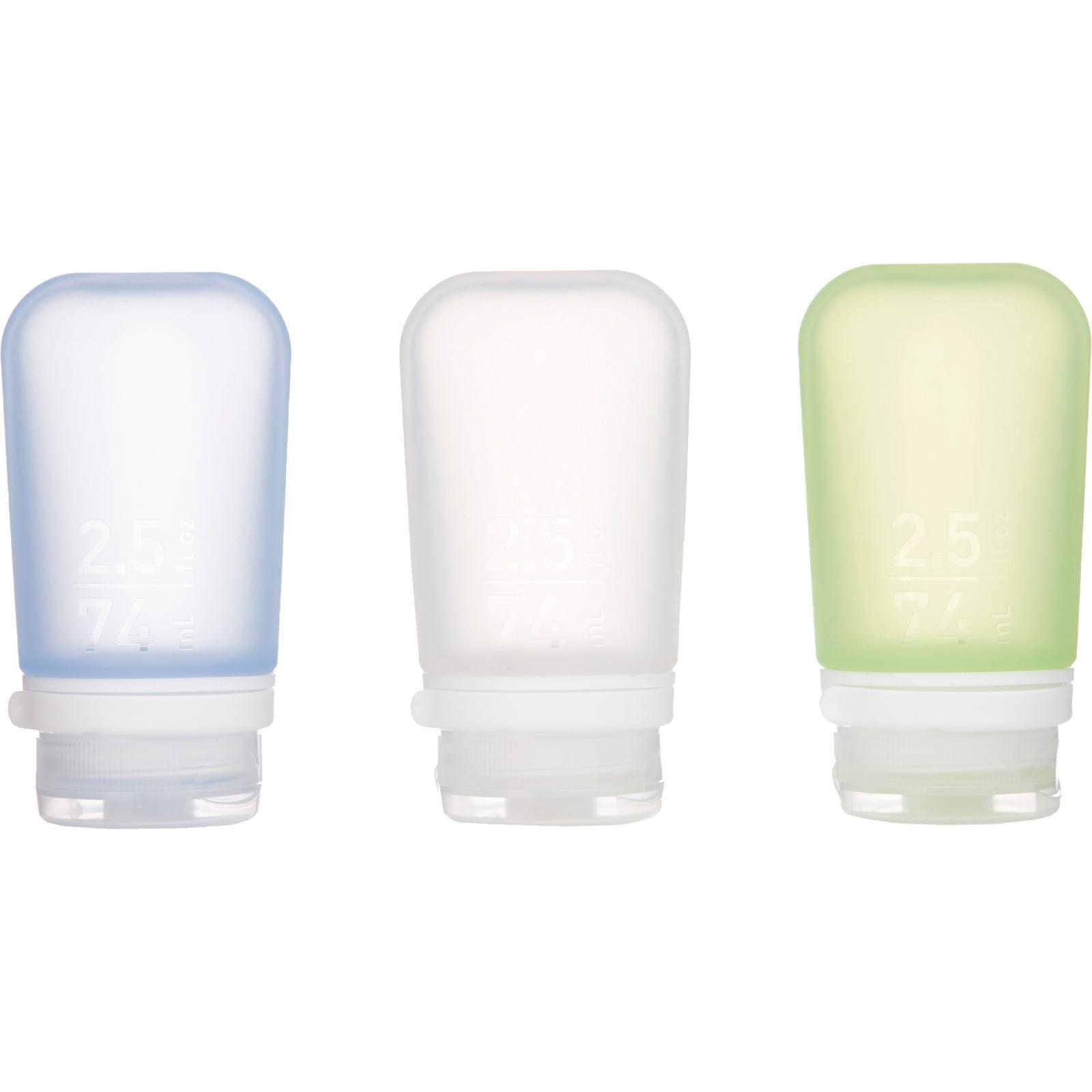 humangear GoToob 3er Pack - 3 x 74 ml Tube transparent-grün-blau - Bild 3