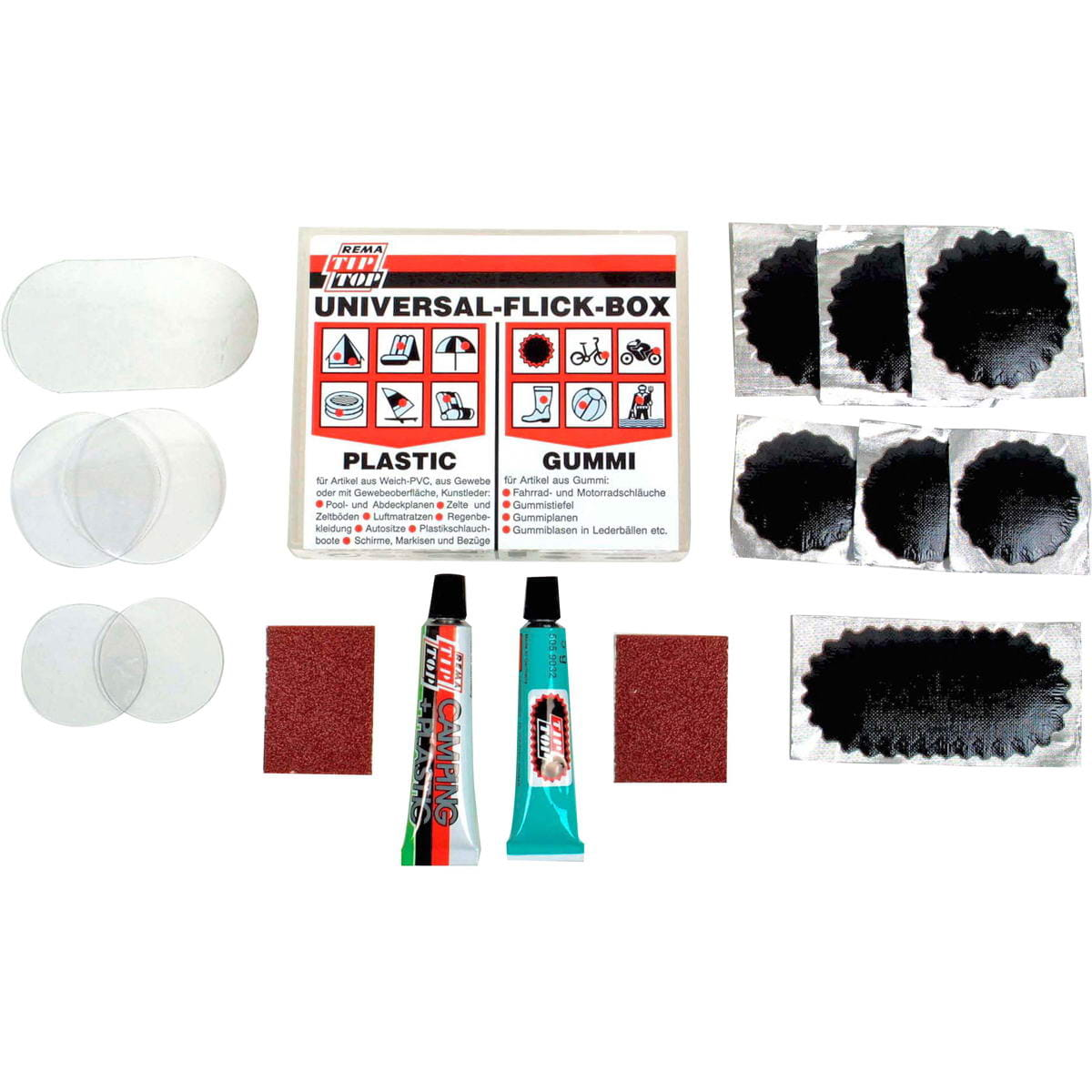 TIP TOP Universal Flickbox - Reparaturset für PU + PVC - Bild 1