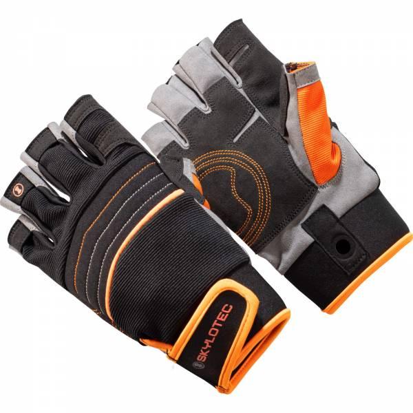 Skylotec SkyGrip Half Finger - Klettersteighandschuhe black-orange - Bild 1