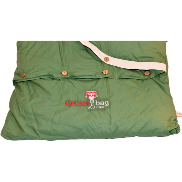 Grüezi Bag Biopod DownWool Nature Comfort  - Daunen- & Wollschlafsack basil green - Bild 7