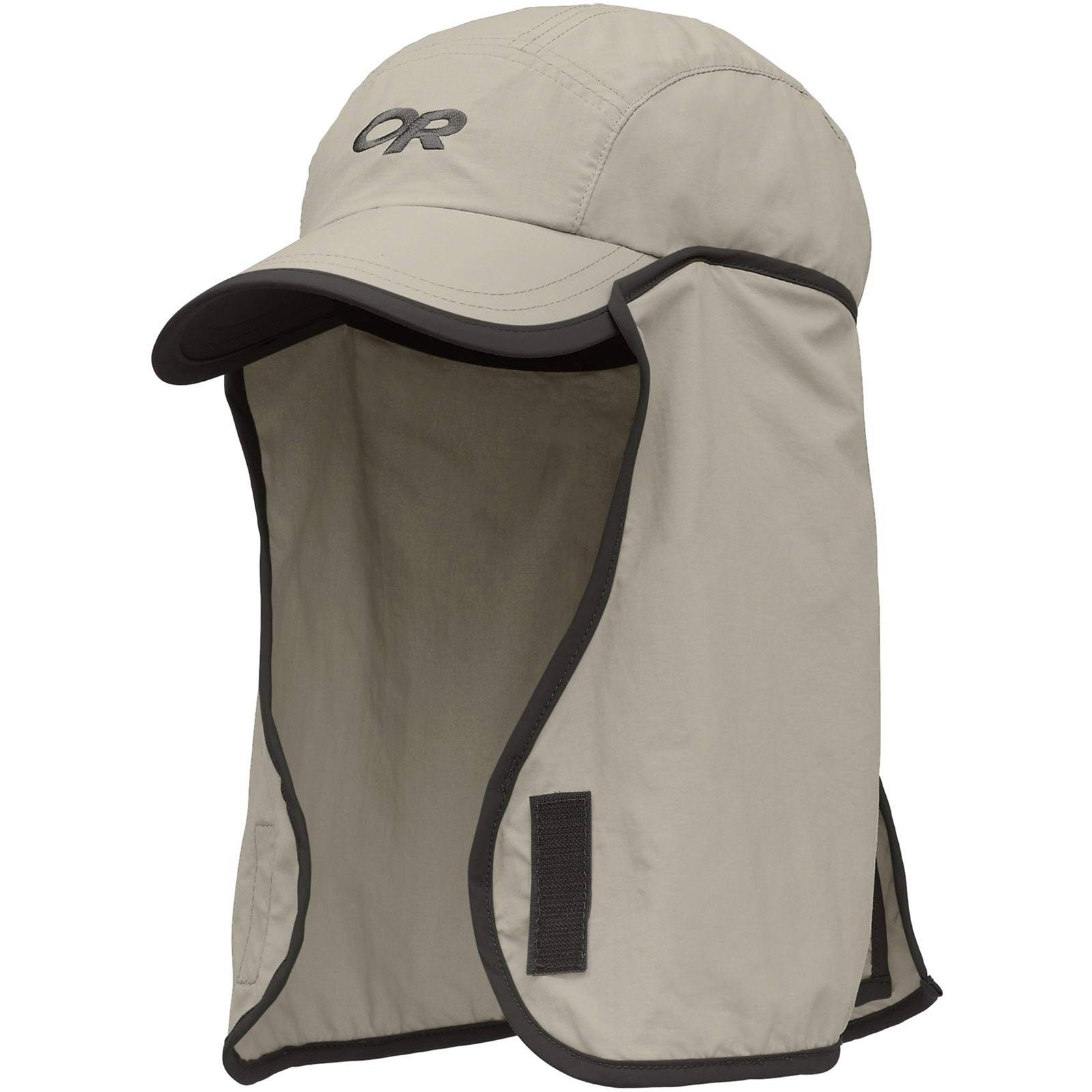 Outdoor Research Kids Sun Runner Cap™ - Sonnen-Mütze khaki-dark grey M