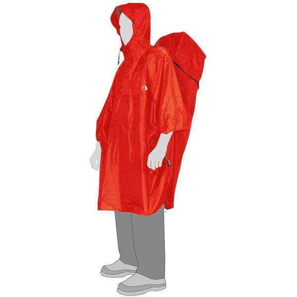 Tatonka Cape Men M - Poncho red - Bild 1