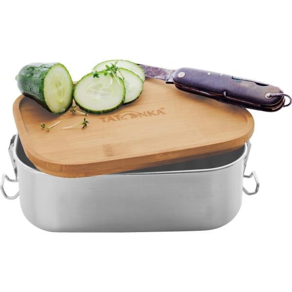 Tatonka Lunch Box I Bamboo 800 ml - Edelstahl-Proviantdose stainless - Bild 3