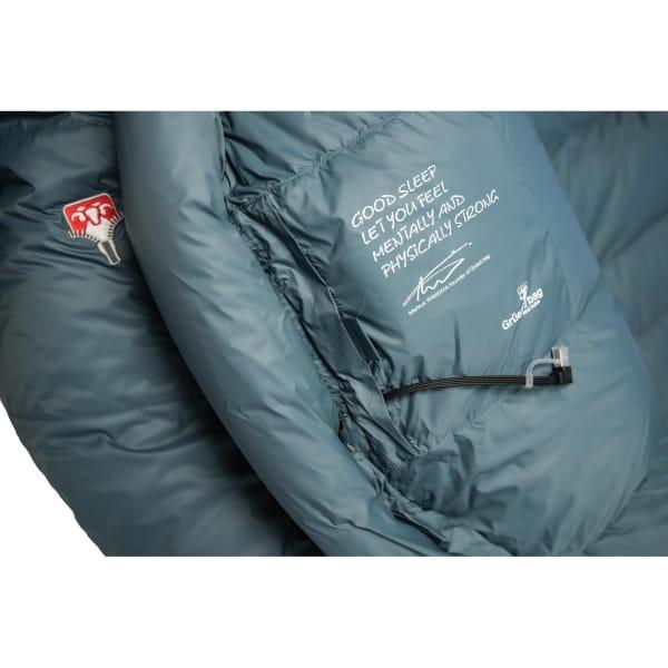 Grüezi Bag Biopod Down Hybrid Ice Cold - Daunen- & Wollschlafsack platin grey - Bild 7