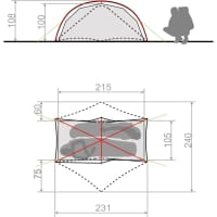 Vorschau: VAUDE Space Seamless 1-2P - Zelt cress green - Bild 5