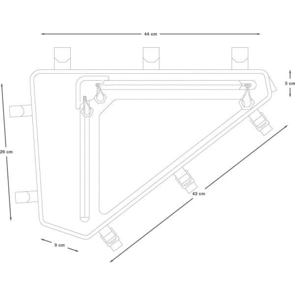 Apidura Backcountry Full Frame Pack 6 L - Rahmentasche - Bild 3