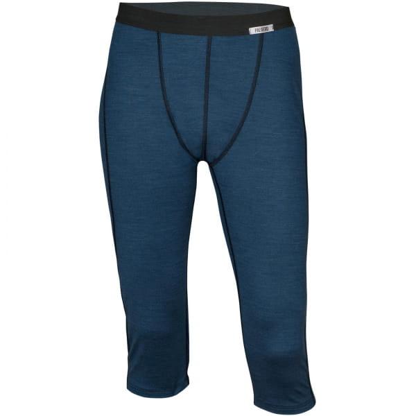 PALGERO Herren SeaCell-Merino Unterhose 3/4 lang blau meliert - Bild 1
