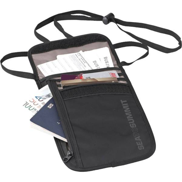 Sea to Summit TravellingLight™ Neck Wallet - Brustbeutel black-grey - Bild 1